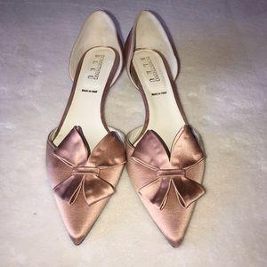 Something Bleu bridal kitten heels